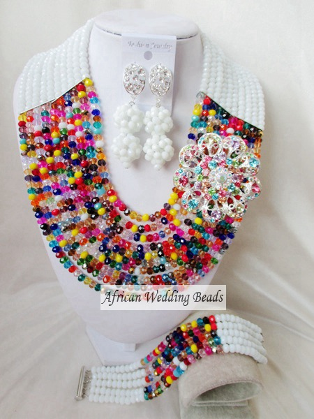 Fashion new african beads Jewelry set crystal beads necklace set nigerian wedding african jewelry set free shipping  WI-2211<br><br>Aliexpress