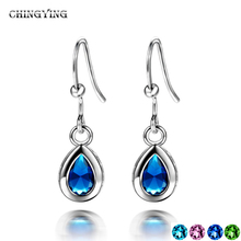 Glantop Fashion Jewelry Platinum Plated Drop Earrings Simple Elegant Summer Stainless Statement Direct from Factory JC-4006