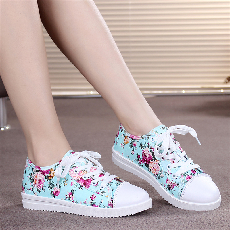 2015 Women high top shoes Brand floral sneakers Women Running sport shoes women Canvas star shoes Platform flats Comfortable EV9(China (Mainland))