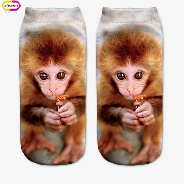 Несколько цветов мода стиль прямая поставка носок 3D унисекс симпатичные глубоким ...