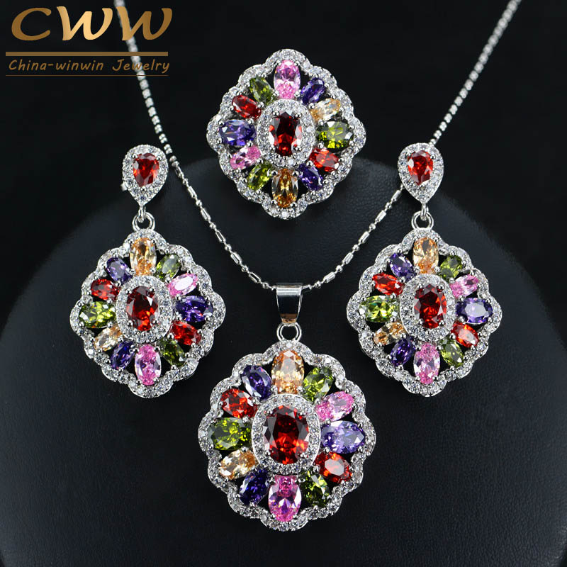 22ct Indian Gold Pendant Set 993 99: Cubic Zirconia Indian Silver 925 Jewelry Sets For Women