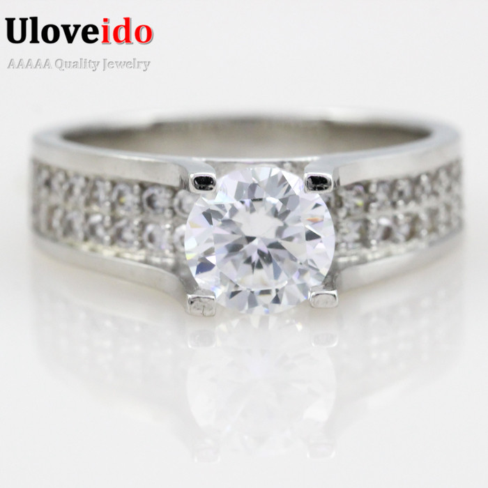 Aliexpress Buy Crystal Ring Simulated Diamond Engagement Rings for Wome