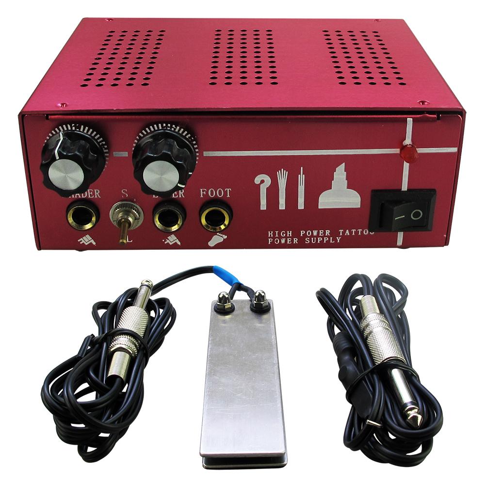 Solong Tattoo Professional Dual Machine Gun Double Output Tattoo Power Supply + clip cord+ foot pedalP130-1<br><br>Aliexpress