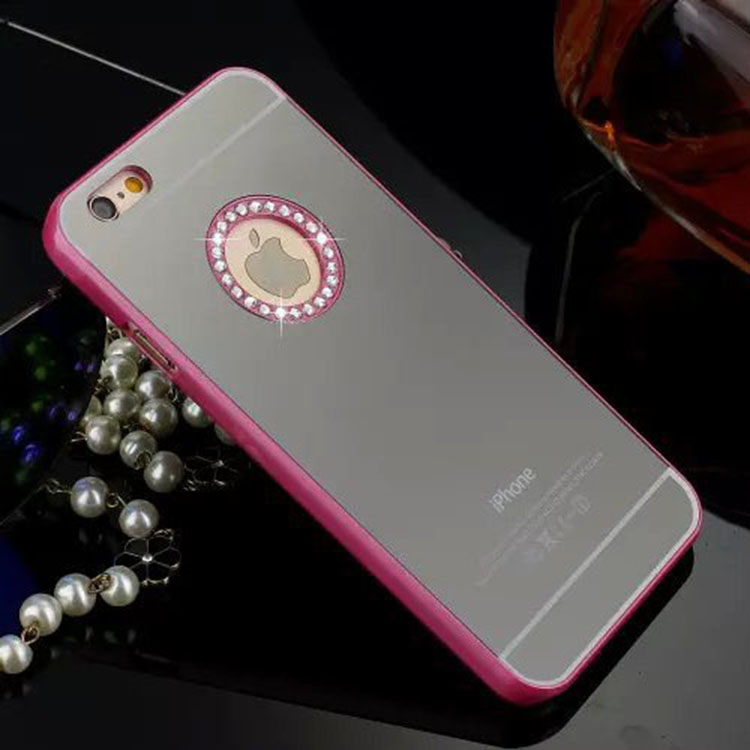 Case for iPhone 5 5s Luxury Bling Rhinestone Diamond Crystal Mirror Cases Back Cover i5 High Quality Fashion Phone Shell(China (Mainland))