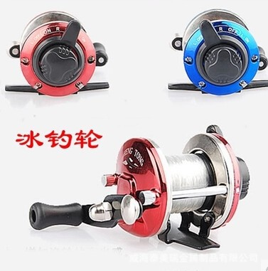 2014 liner drops round of cutting ice fishing small round metal legs TB small-plate wheel fishing fish reels reel(China (Mainland))