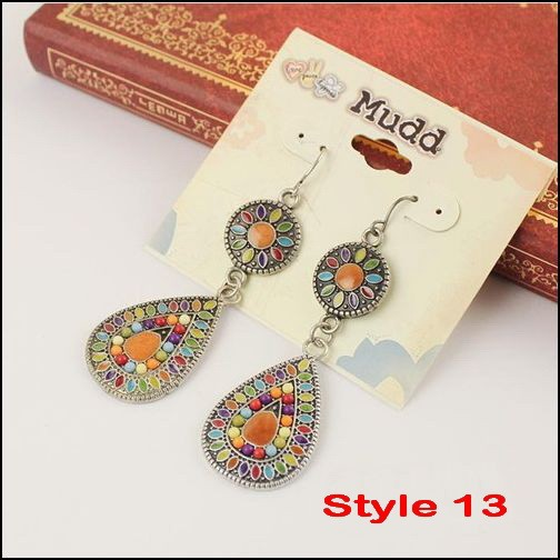 19 colors New Sale Vintage Earrings Fashion Earrings Statement Jewelry ,Wholesale .dropshipp ,free shipping #DJ078(China (Mainland))