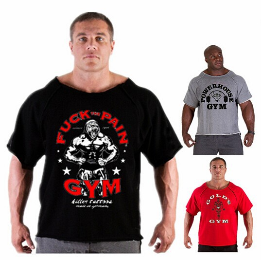 2014 summer brand casual T-shirt man wearing gorilla in the world bodybuilding and fitness gym muscle shirt plus size clothing(China (Mainland))