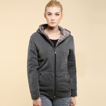 Women Sweatshirt Plus Size Hoodies Slim Thick Casual Winter Jacket Women 2015 New Arrival Solid Zipper tracksuit Hot Sale 6222(China (Mainland))