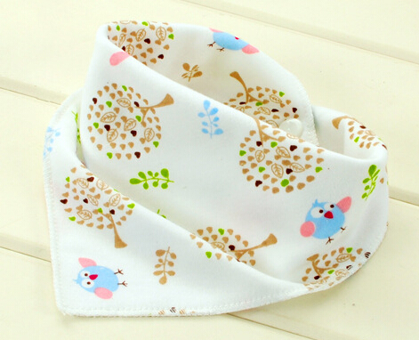 Baby bibs High quality triangl double layers cotton baberos Cartoon Character Animal Print baby bandana bibs