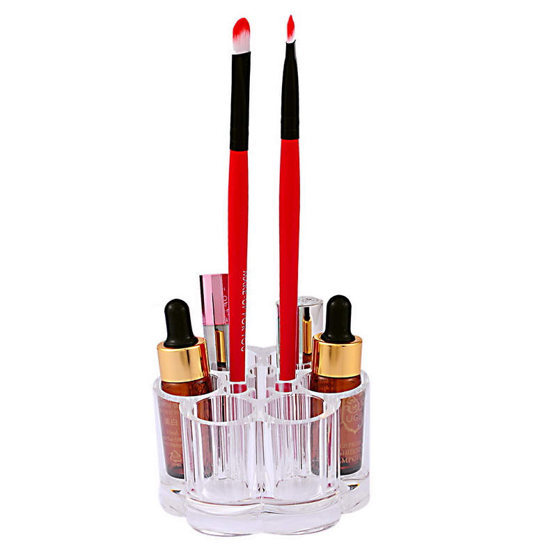 1PC Acrylic Brush Pot Shape Cosmetic Compartments Cases Covers Transparent Organizers Organizer Makeup Display Rack Box(China (Mainland))