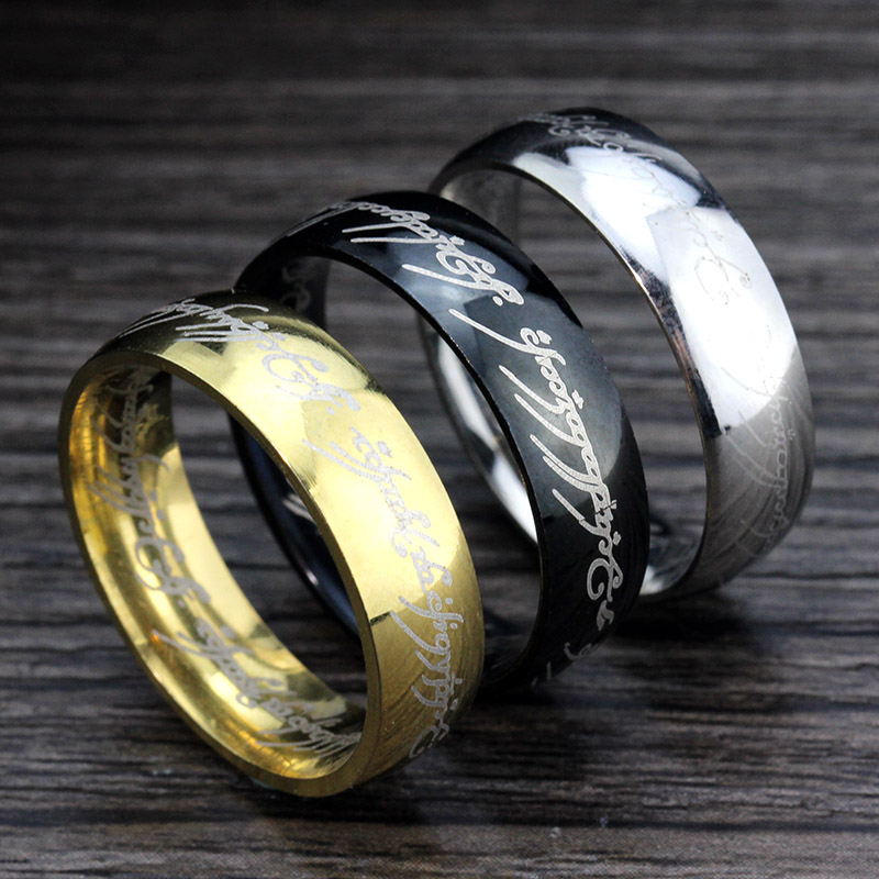 memolissa one ring of power gold silver black the lord of rings women finger wedding fashion - The One Ring Wedding Band