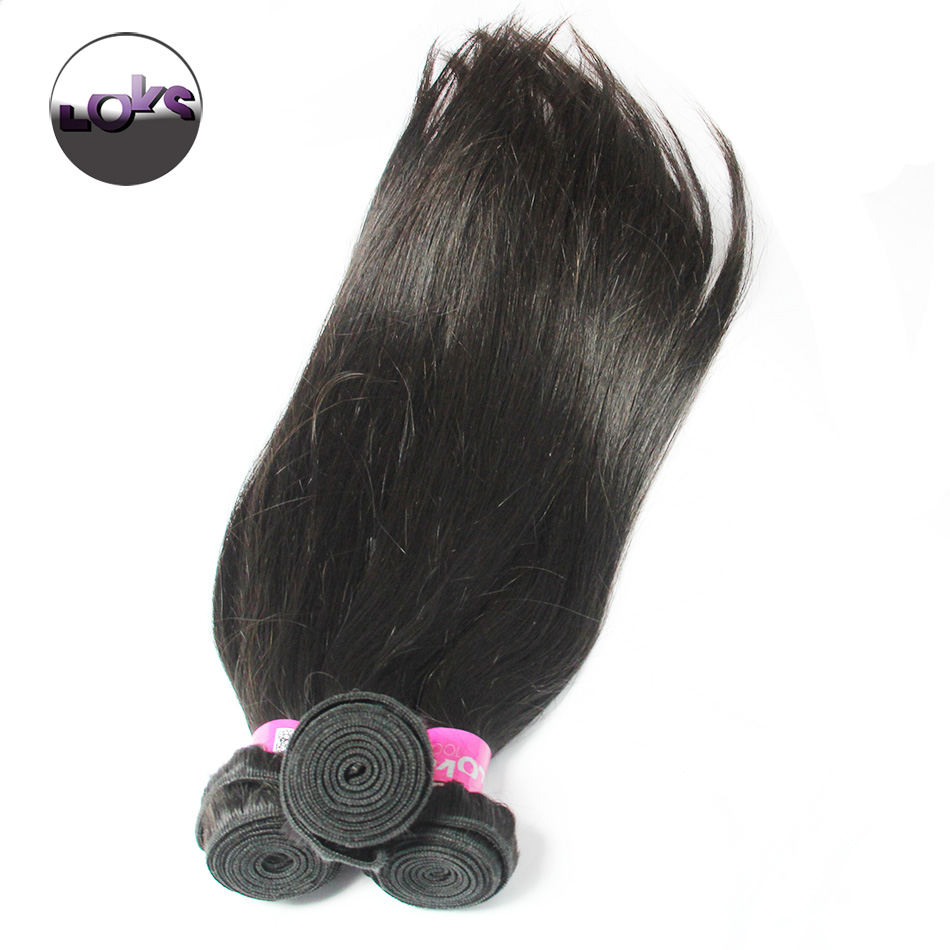 7A Brazilian Straight Virgin Human Hair in Natural Black with Full Cuticles Single Drawn Machine Double Wefts 3pc/lot Wholesale<br><br>Aliexpress