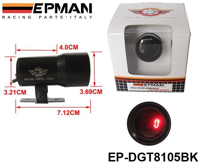 Прибор для авто EPMAN /, 4/6/8 , 37/ep/dgt8105bk epman 76mm universal lightweight aluminum fin turbo type intercooler core size 600x280x76mm ep int0017 100