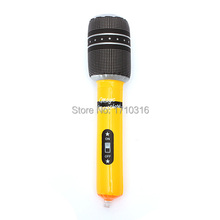 Top Quality 24CM Inflatable Microphone Blow up Mic Music Hen Stag Party Favor Kids Toy Gift Inflatable Microphone Disco Rock Toy(China (Mainland))