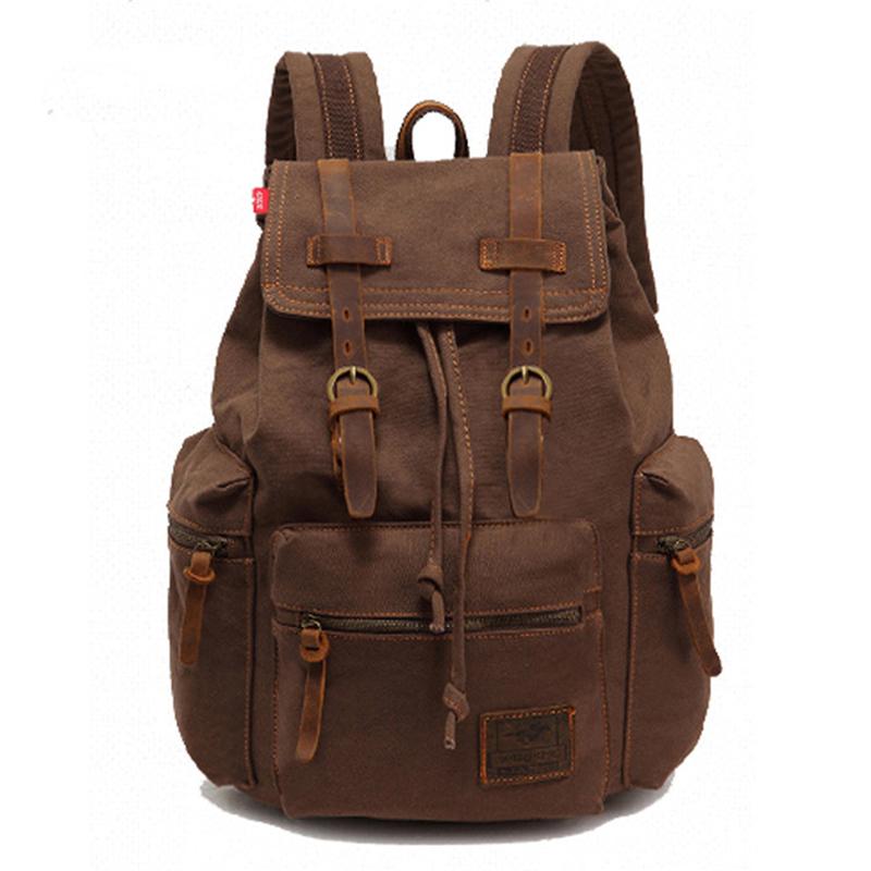 Fashion vintage men canvas backpack women school backpack laptop backpacks for ourdoor hiking<br><br>Aliexpress