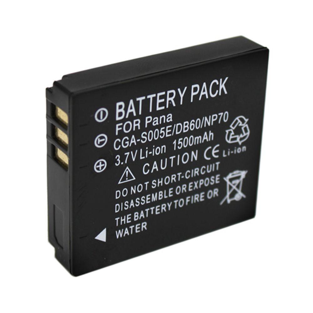 Гаджет  1500mAh DMW-BCC12 CGA-S005E BCC12 S005E DB60 NP70 Camera Battery For Panasonic Lumix DMC-FX180 DMC-LX1 DMC-LX2 LX3 FS1 FS2 FX01 None Бытовая электроника