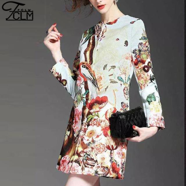 Мода осень зима печатные длинные пальто верхняя одежда женщин мода верхняя одежда ...