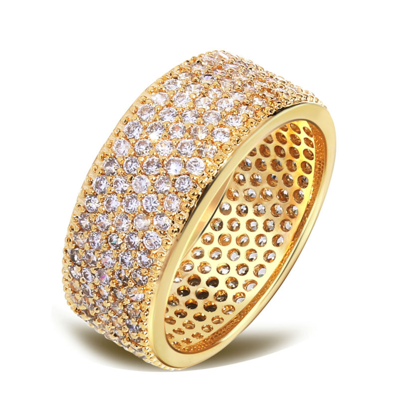 2016 ring women crystal jewelry Rhodium/18K gold plate Micro Pave Jewelry Ring Plated Famous Design Rings for Women Zircon(China (Mainland))