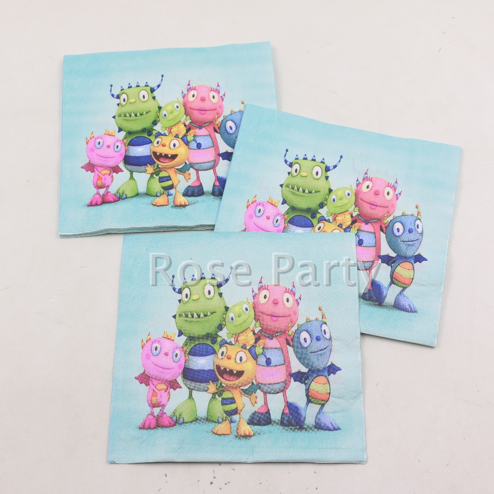 20pcs/pack Novelty Cartoon Party Paper Napkins for Boy Kids Birthday Event Party Theme Decoration Tableware Handkerchief(China (Mainland))