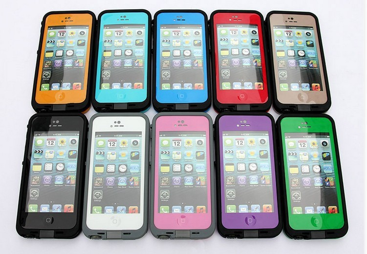 2014 New Life Water/Dirt/SnowProof protective cover case for iphone 5 5s in retail package+free shipping(China (Mainland))