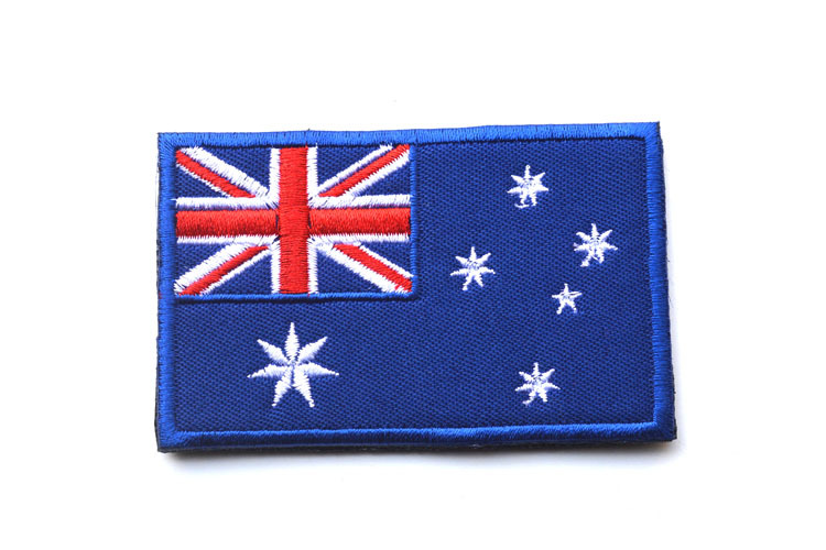 Hot Australia National flag Jersey Armband Logo embroidered patches patch badge 8*5cm for Jacket Motorcycle Club(China (Mainland))