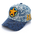 New spring autumn lovely boy children Baseball Cap Washed jeans pure cotton cowboy Embroidered Baseball Cap