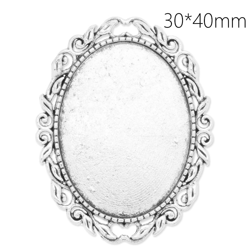 10 pcs Antique Silver Handmade Oval Lace Border Brooch/Breast Pin,Base Setting Tray Bezel,Fit 40*30 mm Cabochon/Cameo-C4105<br><br>Aliexpress