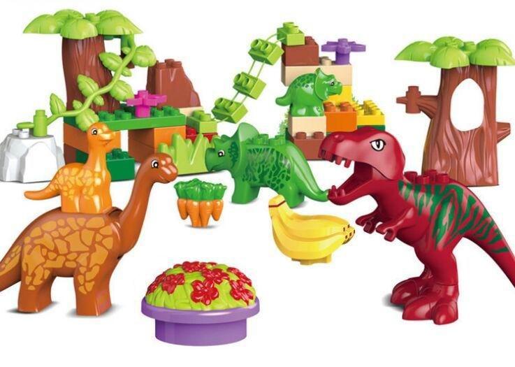 2015 new 40pcs/lot The Jurassic park Jurassic world Dino Valley Animal building blocks brick brinquedos juguetes educative toys(China (Mainland))