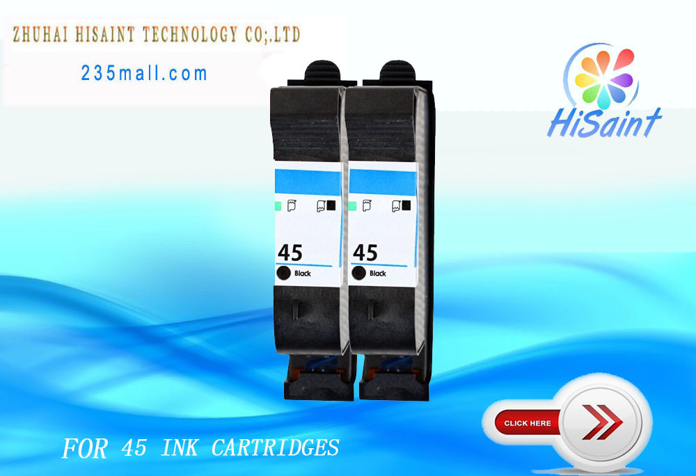 Compatible for HP 45 ink cartridges for g55/g85  Color Copier 210/210Lx/310 Deskjet 916c/930/930c/930cm/930p/932c/933<br><br>Aliexpress