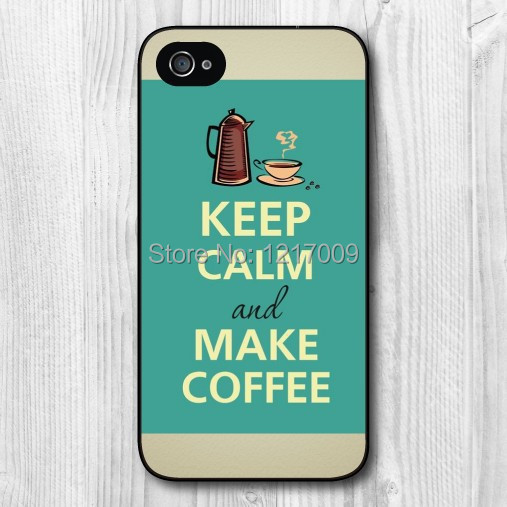 Selling Keep Calm And Enjoy The Time To Make Coffee Taste Comfortable Hard Cover Case for iphone 4 4s 5 5s 5c 6 6plus(China (Mainland))