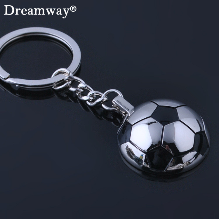 football keychains metal half ball soccer key chains World Cup souvenir keyring holder for sport lover factory wholesale retail(China (Mainland))