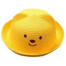 الصيف الطفل الكرتون الأطفال تنفس القش قبعة الاطفال صبي الفتيات قبعة قبعة الأطفال آذان القط Sunhat الاطفال لطيف شاطئ بنما قبعات(China)