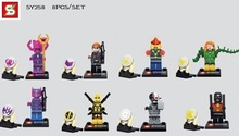 SY258 10Lot Building Blocks Super Heroes The Avengers Heroes Assemble Minifigures Black Widow Spiderman Action Mini Figures Toys
