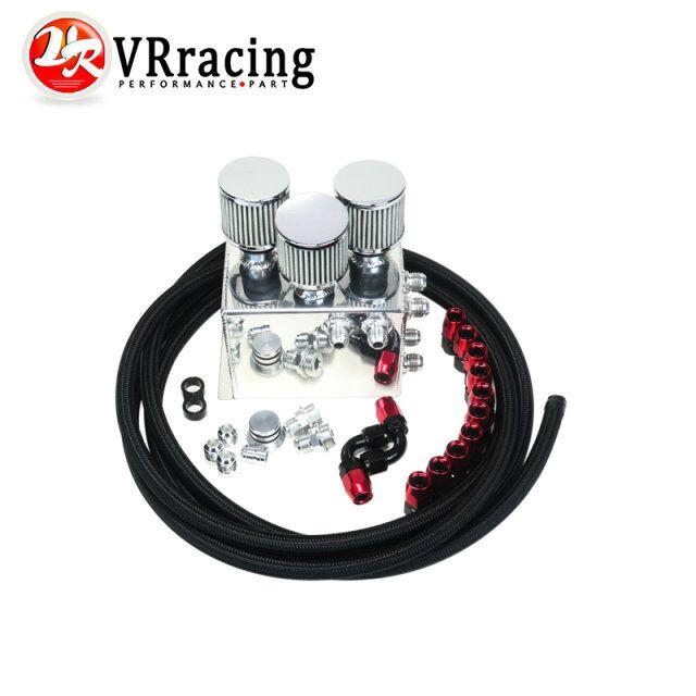 VR RACING-Power Driven OIL CATCH TANK CAN / BREATHER TANK RACE KIT FOR Honda Acura VTEC BLACK VR-TK86BK<br><br>Aliexpress