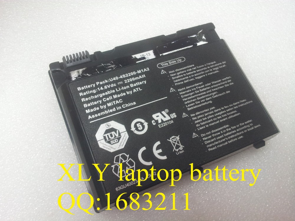 laptop batteries ADVENT 6552, 6553, 6650, 6651, 9115, 9315, 9415, K1301, KC500, KC550,U40-4S2200-C1L3 U40-4S2200-C1H1(China (Mainland))