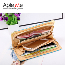 New 2015 brand fashion bright skin Candy color High heeled shoe pattern women s wallets purse
