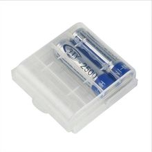 5pcs Hard Plastic White Cases Cover Holder AA AAA Battery Storage Box HOT Free Shipping