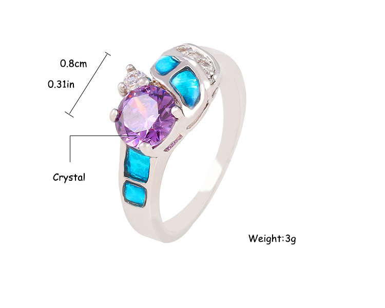 Stunning New Fashion Trend In Europe And America Will Essential In Elegant And Mysterious Purple Women Ring Jewelry Wholesale(China (Mainland))