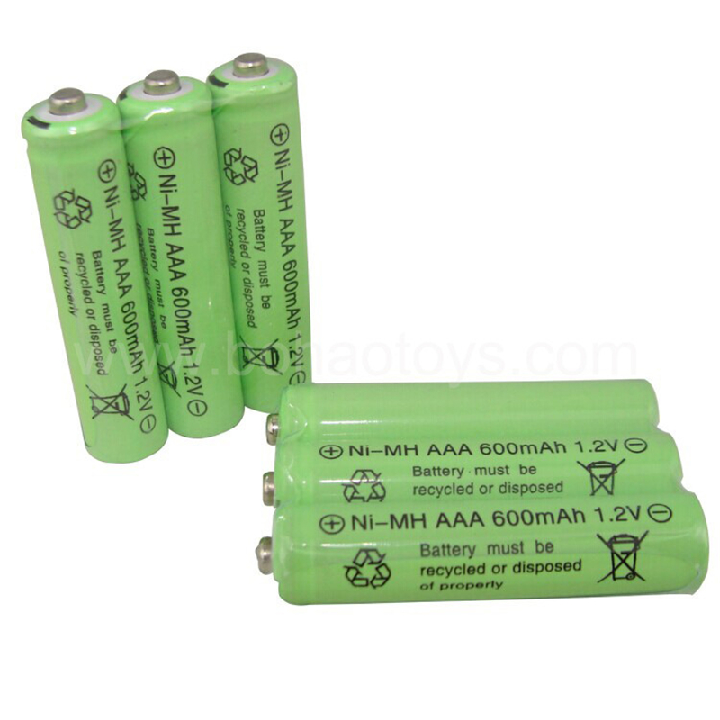 3 psc/lot remote control toy rechargeable Ni Cd rechargeable battery AAA 1.2V 600mAH Free Shipping(China (Mainland))