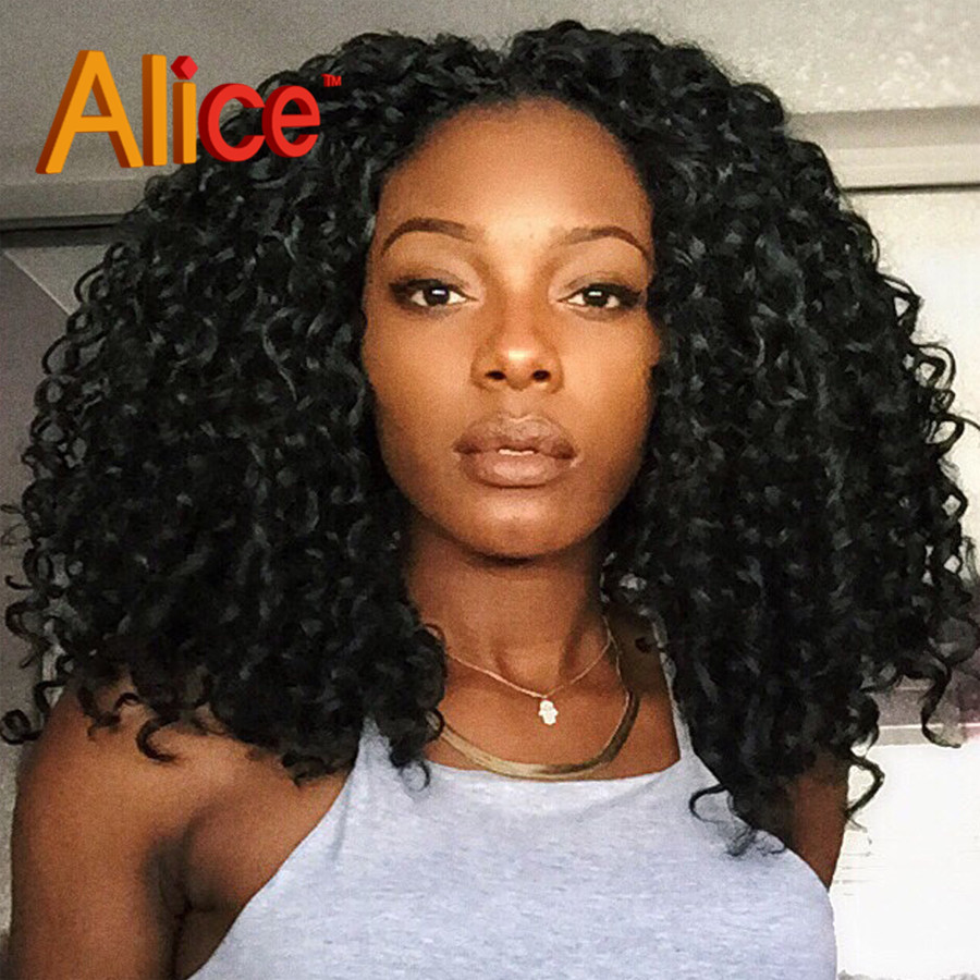 Kinky Curly Full Lace Human Hair Wigs Lace Front Human Hair Upart Wig Brazilian Hair Human Hair Curly Wigs For Black Woman(China (Mainland))