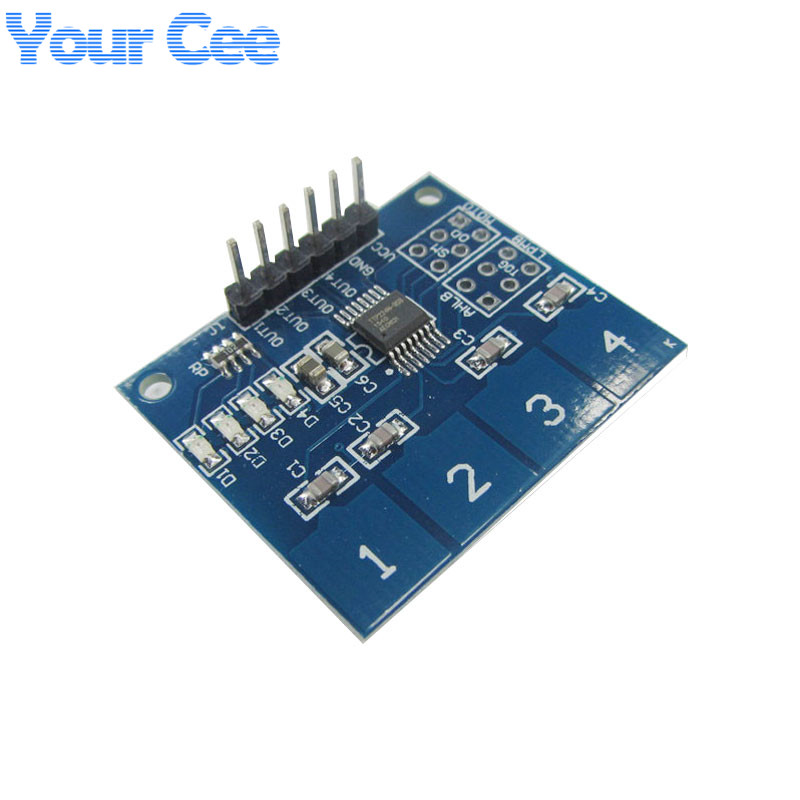 TTP224 4-way 4Channel Capacitive Touch Switch Digital Touch Sensor Module(China (Mainland))