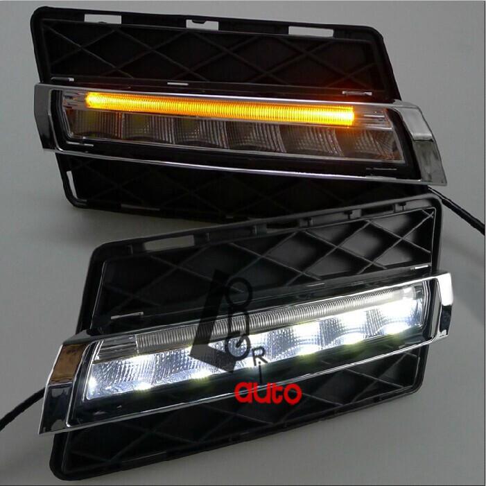 FREE SHIPPING, CHA 2008-2012 MERCEDES BENZ W204 GLK300 GLK350 GLK500 SPECIAL LED DAYTIME RUNNING LIGHT FOG LAMP V3, GLK CLASS(China (Mainland))
