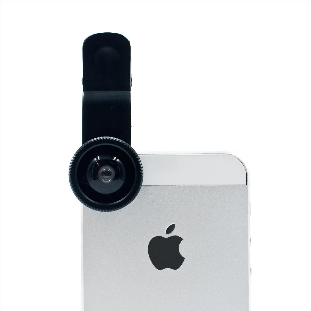 Universal Fisheye Fish eye lente para camera de celular Lens For iphone 4 nexus 5 samsung galaxy s5 S4 phone lente olho de peixe