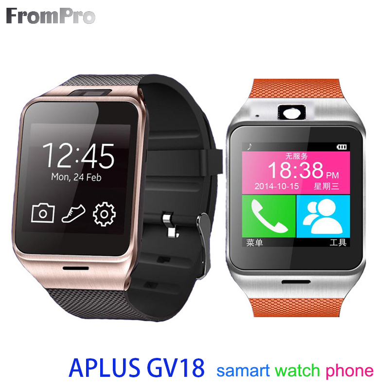 Bluetooth Smart Watch Android Wear Aplus MTK6260 CPU GV18 Smartwatch with SIM Card Intelligent Waterproof Watches Mobile Phone(China (Mainland))