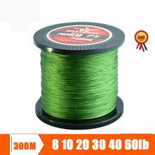 300M line: Super Strong Multifilament Braided Fishing line 4 strands weaves Janpan PE material Fishing Wire 10lb 20lb 30lb 60lb(China (Mainland))