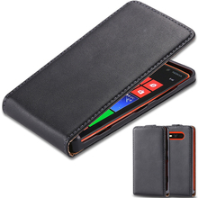 Luxury Genuine Leather Case for Nokia Lumia 820 N820 Skin Cover Flip Phone Case Open Up and Down High Quality