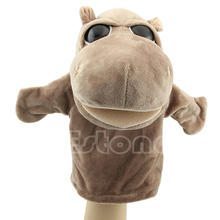 C73 Free Shipping   Cute Plush Velour Animals Hand Puppets Chic Designs Kid Child Learning Aid Toy(China (Mainland))