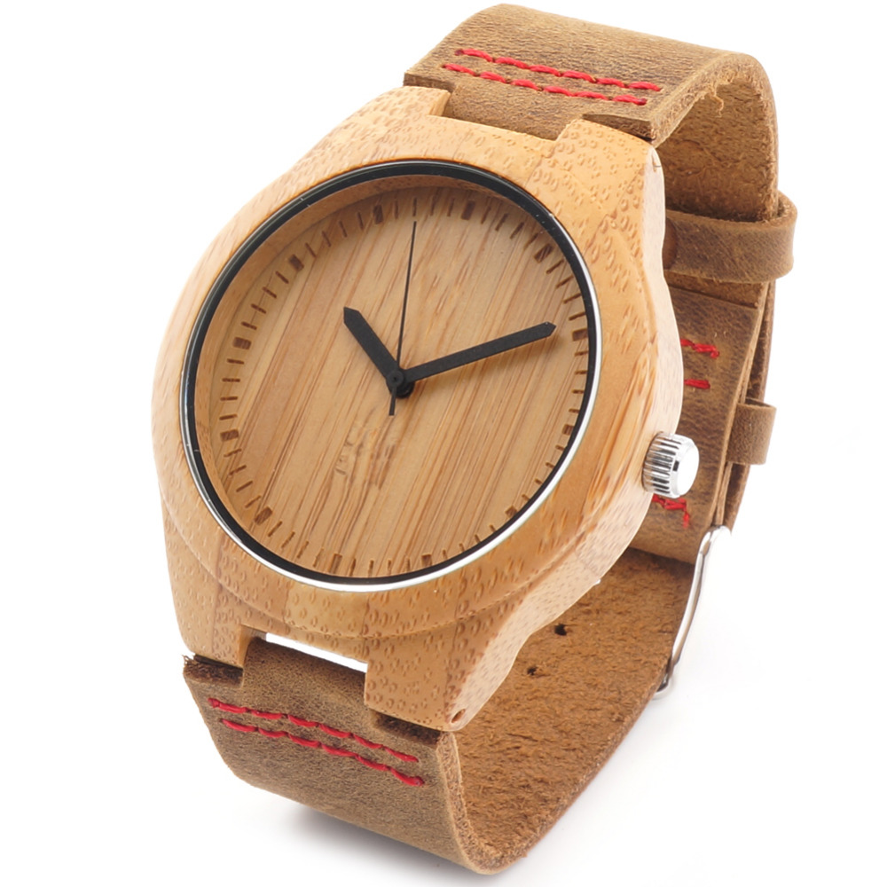 gifts blue boyd leather watch wooden tree bamboo valentines couples watches products hut