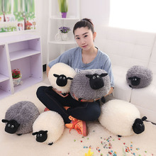 Free shipping Creative Home Pillow Lovely Stuffed Soft Plush Toys Cushion Sheep Character White/Gray Kids Baby Toy Gift(China (Mainland))