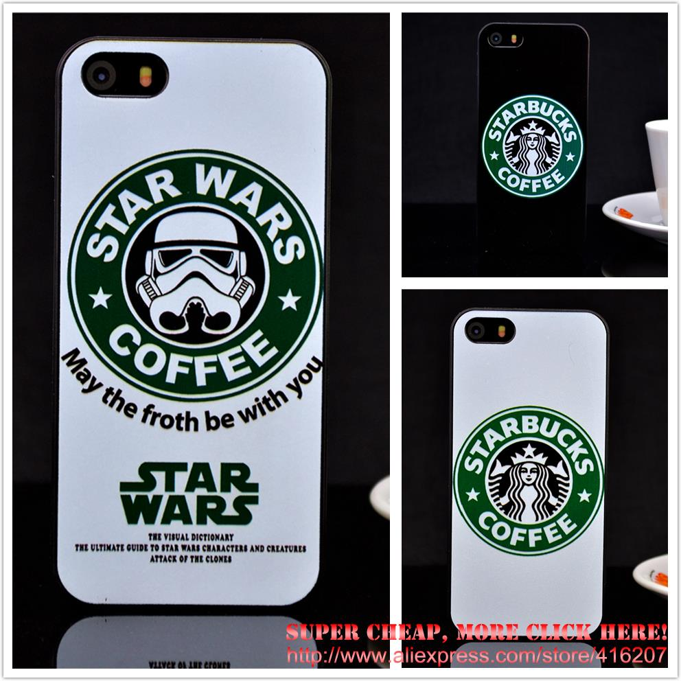 Fashion Star Wars Coffee Phone case iphone 4 4S 5 5G 5S protective Hard - Super cheap, More click here! store